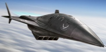 Popular Science artist impression of the mysterous warplane over southern cal